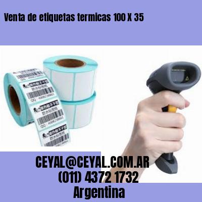 Venta de etiquetas termicas 100 X 35