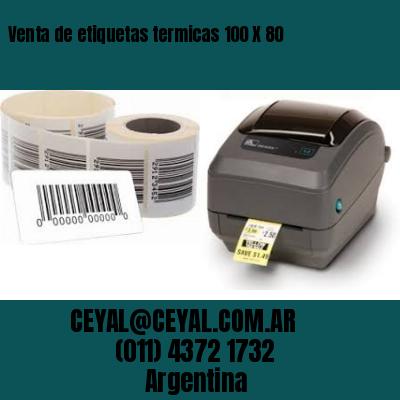 Venta de etiquetas termicas 100 X 80
