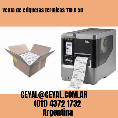 Venta de etiquetas termicas 110 X 50
