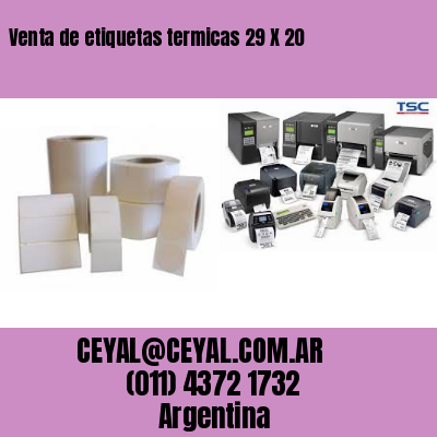 Venta de etiquetas termicas 29 X 20