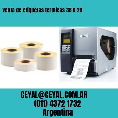 Venta de etiquetas termicas 38 X 20