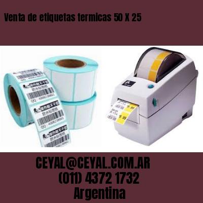 Venta de etiquetas termicas 50 X 25