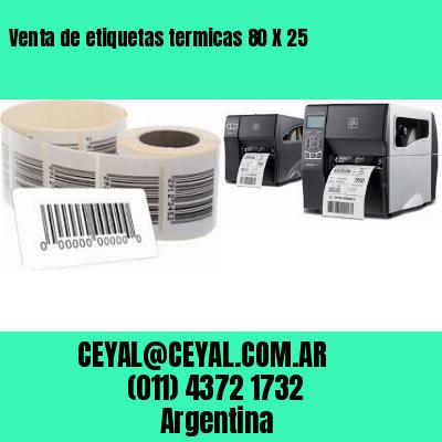 Venta de etiquetas termicas 80 X 25