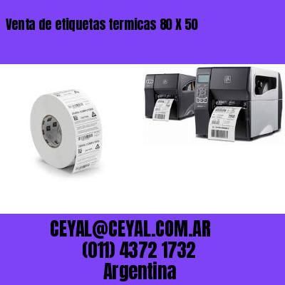 Venta de etiquetas termicas 80 X 50