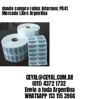 donde compro rollos Intermec PD41 Mercado Libre Argentina