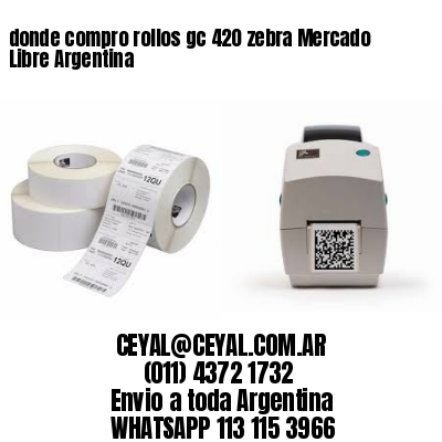 donde compro rollos gc 420 zebra Mercado Libre Argentina