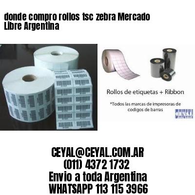 donde compro rollos tsc zebra Mercado Libre Argentina