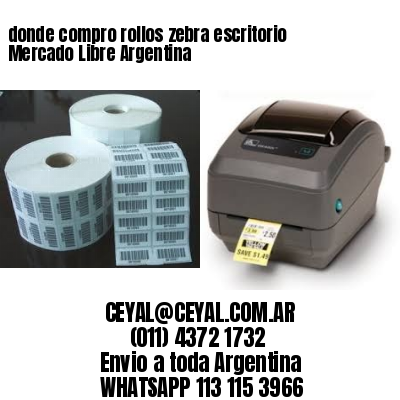 donde compro rollos zebra escritorio Mercado Libre Argentina