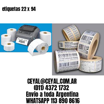 etiquetas 22 x 94