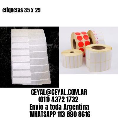 etiquetas 35 x 29