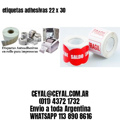 etiquetas adhesivas 22 x 30