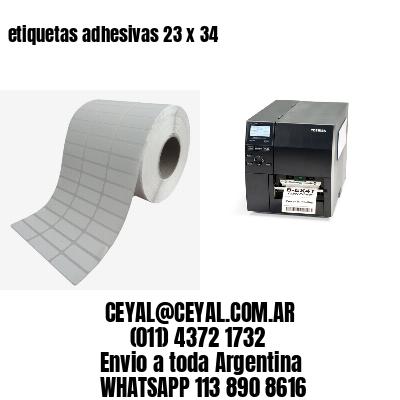 etiquetas adhesivas 23 x 34