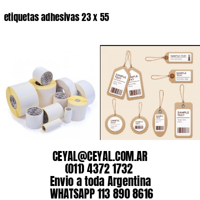etiquetas adhesivas 23 x 55