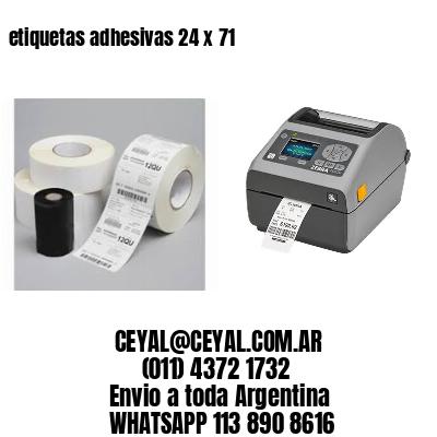 etiquetas adhesivas 24 x 71