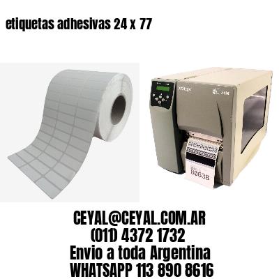 etiquetas adhesivas 24 x 77