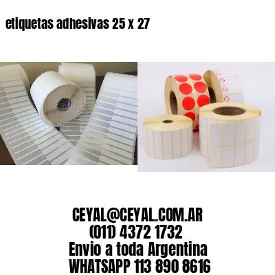etiquetas adhesivas 25 x 27