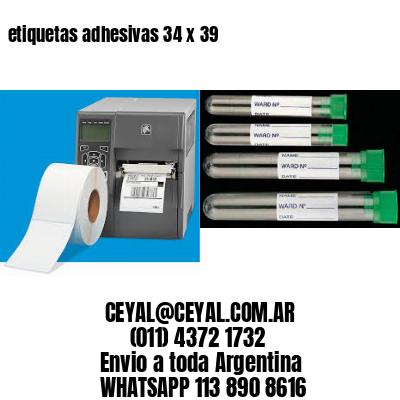etiquetas adhesivas 34 x 39
