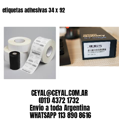 etiquetas adhesivas 34 x 92