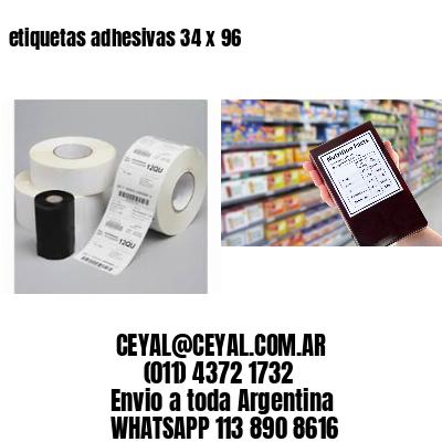 etiquetas adhesivas 34 x 96