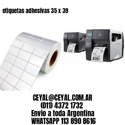 etiquetas adhesivas 35 x 39