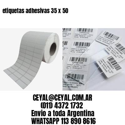 etiquetas adhesivas 35 x 50