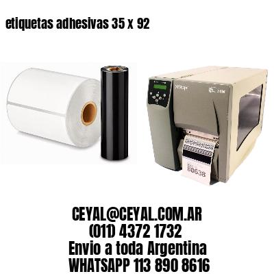 etiquetas adhesivas 35 x 92