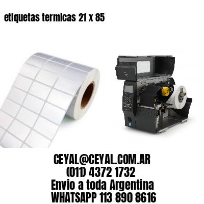 etiquetas termicas 21 x 85
