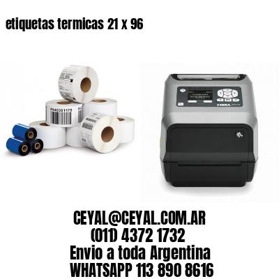etiquetas termicas 21 x 96