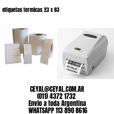 etiquetas termicas 23 x 83